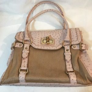 ALDO Pink Ostrich Print with Tan Tweed